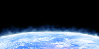 Earth horizon. As seen from outer space Royalty Free Stock Image