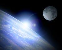 Earth horizon Stock Image