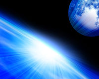Earth horizon Royalty Free Stock Photo