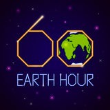 Earth hour banner Royalty Free Stock Photo