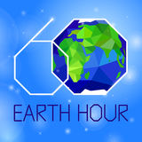 Earth hour banner Royalty Free Stock Photography