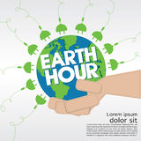 Earth Hour. Royalty Free Stock Photography