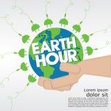 Earth Hour. Earth Hour Conceptual Illustration Vector.EPS10 vector illustration