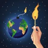 Earth hour design. Icon illustration graphic royalty free illustration
