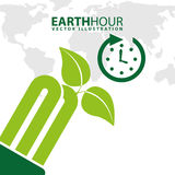 Earth hour. Design, vector illustration eps10 graphic Stock Images