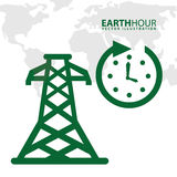 Earth hour. Design, vector illustration eps10 graphic royalty free illustration