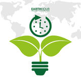 Earth hour. Design, vector illustration eps10 graphic stock illustration