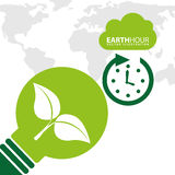 Earth hour. Design, vector illustration eps10 graphic Stock Photography