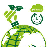 Earth hour. Design, vector illustration graphic Royalty Free Stock Images