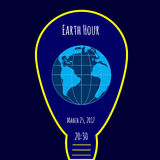 Earth Hour environmental movement illustration Royalty Free Stock Photography
