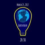 Earth Hour environmental movement illustration Stock Photo