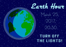 Earth Hour - global annual international event Royalty Free Stock Photo