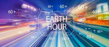 Earth hour with high speed motion blur stock photos