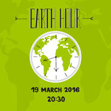 Earth hour lettering Stock Images