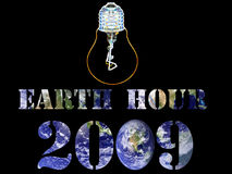Earth Hour light 2009. Earth Hour 2009.Save the Earth,every little bit helps royalty free illustration