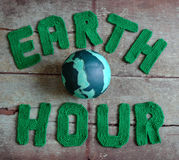 Earth hour message, worldwide Royalty Free Stock Images