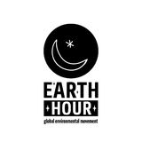 Earth Hour Movement. Earth Hour is a Global Environmental Movement. Vector icon with text, isolated on white. Concept of energy saving and changing climate Royalty Free Stock Photos
