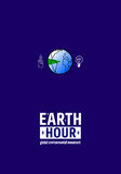 Earth Hour Movement. Vector illustration, template for banner or card Royalty Free Stock Image