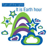 Earth Hour. Turn off the lights, it is Earth hour vector illustration