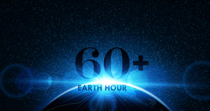 Earth Hour. Vector Stock Photo