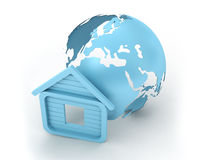 Earth and house Royalty Free Stock Images