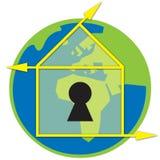 Earth House Logo Stock Photography