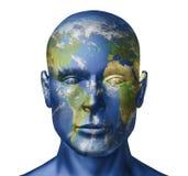 Earth human face vector illustration