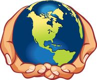 Earth on human hand Royalty Free Stock Photos