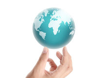 Earth in human hand Stock Images