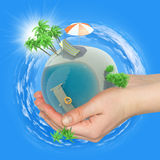 Earth in humans hands Royalty Free Stock Photo