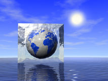 Earth in ice Stock Photo