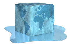 Earth ice cube Stock Photo