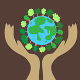 Earth icon Stock Photo