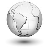 Earth icon. Vector illustration of planet earth on white background Royalty Free Stock Photos