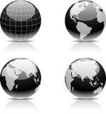 Earth icon set. Stock Photos