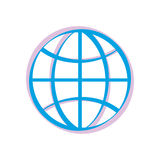 Earth icon. Royalty Free Stock Photo