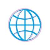 Earth icon. Royalty Free Stock Photo