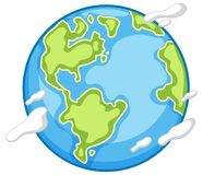 An earth icon on white background. Illustration royalty free illustration