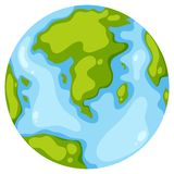 An earth icon on white background. Illustration stock illustration