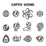 Earth icons Royalty Free Stock Images