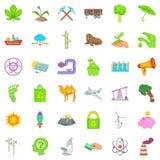 Earth icons set, cartoon style. Earth icons set. Cartoon style of 36 earth vector icons for web isolated on white background Stock Image