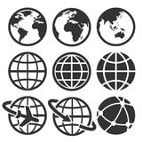 Earth  icons set. Stock Photography