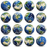 Earth icons set Royalty Free Stock Photography