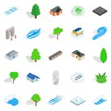 Earth icons set, isometric style Royalty Free Stock Images