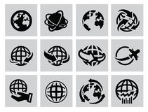 Earth icons Royalty Free Stock Image