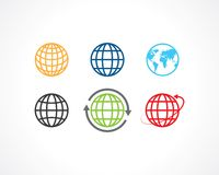 Earth icons Royalty Free Stock Photos