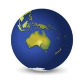 Earth. Illustration of the globe, Australia Royalty Free Stock Photo