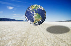 Earth image over the Black Rock Desert Playa Royalty Free Stock Photo