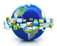Earth with images Royalty Free Stock Image