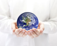 Free Earth In Hands Stock Photo - 20519850